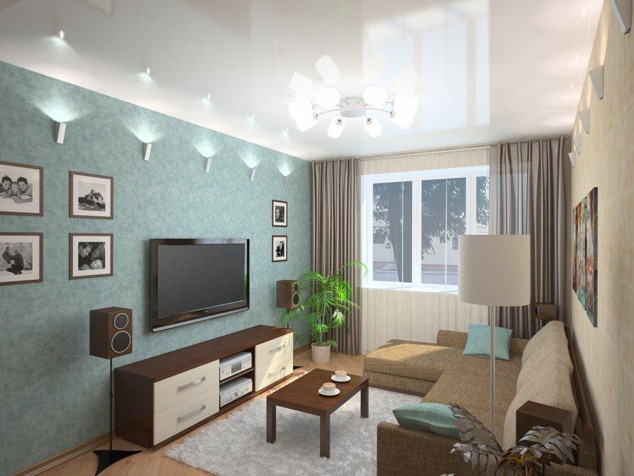 Дизайн комнаты 14 кв.м спальни-гостиной в хрущевке