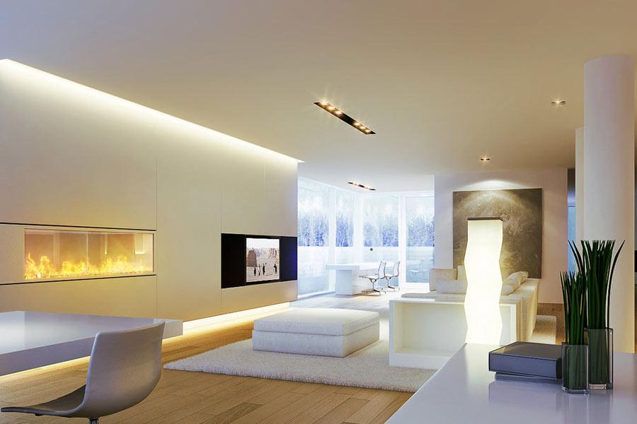 Светодиодные светильники в интерьере квартиры фото