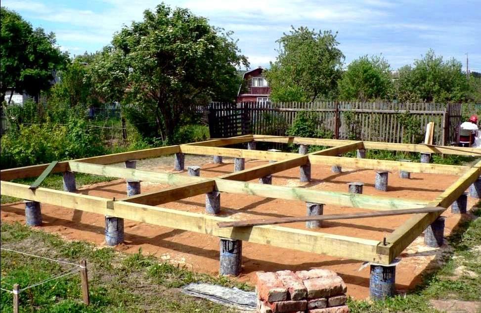 Строим каркасный дом на столбчатом фундаменте своими руками